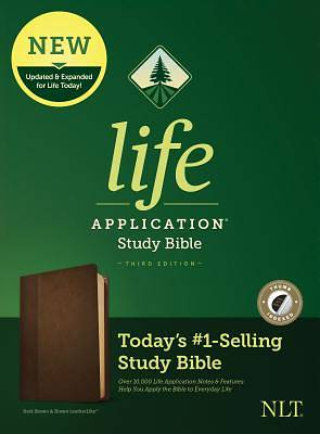 Picture of NLT Life Application Study Bible, Third Edition (Leatherlike, Dark Brown/Brown, Indexed)