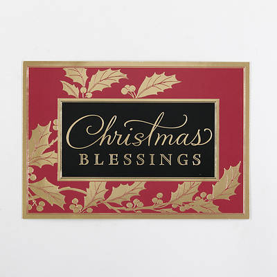 Christmas Blessings Cards Box of 18