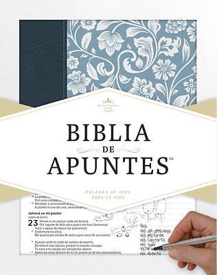 Picture of Rvr 1960 Biblia de Apuntes - Azul - Piel Genuina y Tela Impresa