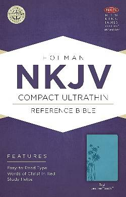 Picture of NKJV Compact Ultrathin Bible, Teal Leathertouch