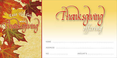 Thanksgiving and Praise Offering Envelope (Package of 100)