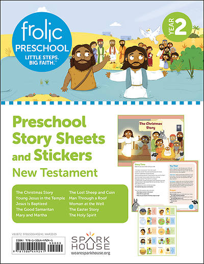 Picture of Frolic Preschool  New Testament  Year 2  Ages 3-5  Story Sheets and Stickers