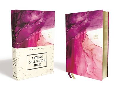 Picture of NIV Artisan Collection Bible, Cloth over Board, Pink, Art Gilded Edges, Red Letter Edition, Comfort Print