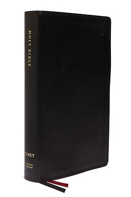 Picture of NET Bible, Single-Column Reference, Leathersoft, Black, Comfort Print