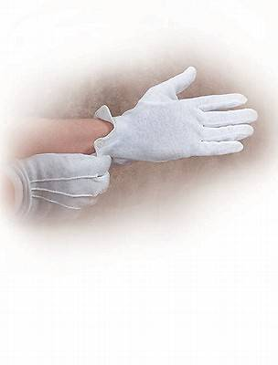 White Cotton Gloves Medium