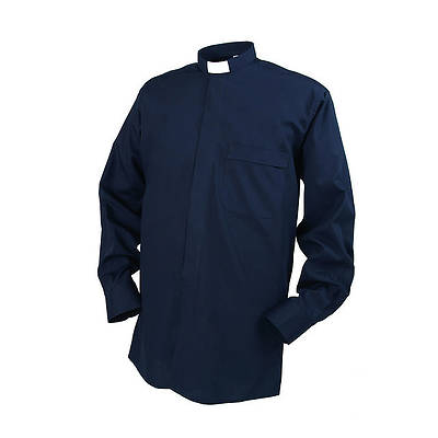 Reliant Long Sleeve Clergy Shirt with Tab Collar