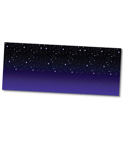 Vacation Bible School (VBS) 2016 Expedition Norway Starry Night Plastic Backdrop