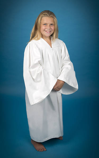 Pleated Baptismal Gown for Children