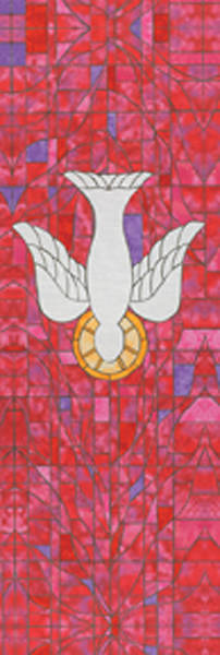Symbols of Faith Series Stained Glass Descending Dove Banner 2 X 6