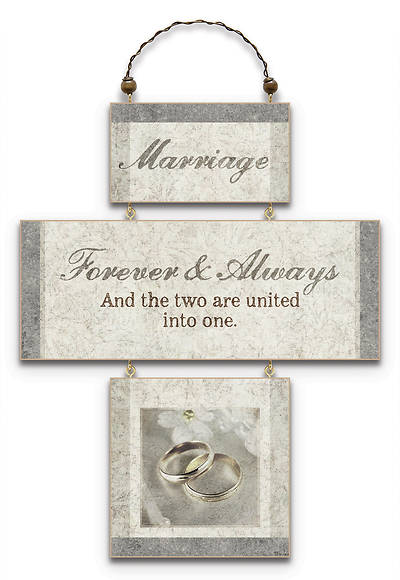 """Marriage"" Crossword Wall Plaque"
