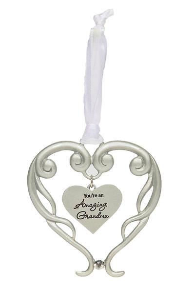 """Picture of Amazing Grandma Heart Ornament 4"""""""