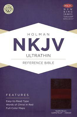 NKJV Ultrathin Reference Bible, Saddle Brown Leathertouch Indexed