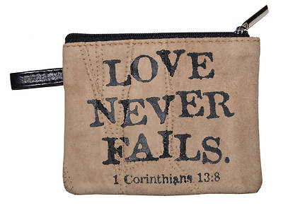 Picture of Leather Coin Purse Love Never Fails