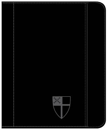 Zippered Padfolio Tablet Case, Universal Fit - Debossed Episcopal Shield