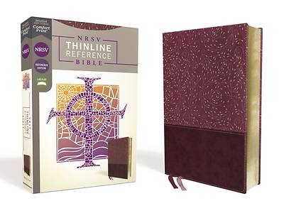 Picture of NRSV Thinline Reference Bible, Leathersoft, Burgundy, Comfort Print