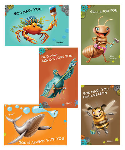 Vacation Bible School (VBS) 2017 Maker Fun Factory Bible Point Posters (Set of 6)