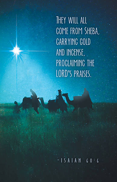 They Will All Come Epiphany Christmas Bulletin (Pkg of 50)