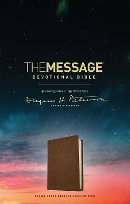 Picture of The Message Devotional Bible, Brown Cross