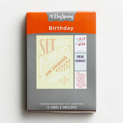 Picture of Birthday - Bible Letters Boxed Cards Assorted (Box 12)