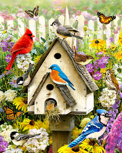 Picture of Backyard Birds Jigsaw Puzzle