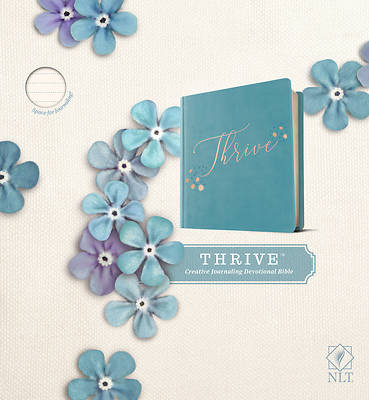Picture of NLT Thrive Creative Journaling Devotional Bible (Hardcover Leatherlike, Teal Blue with Rose Gold)