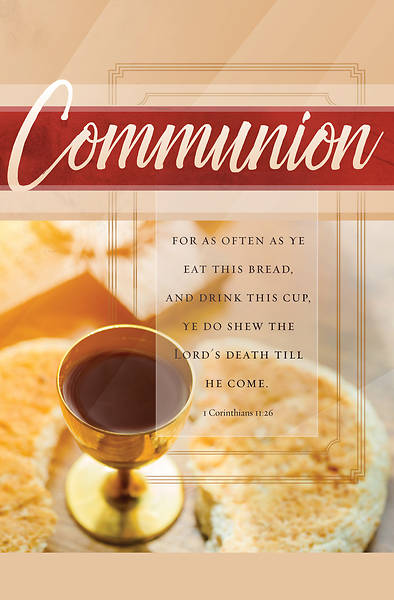 For As Often Communion Regular Size Bulletin