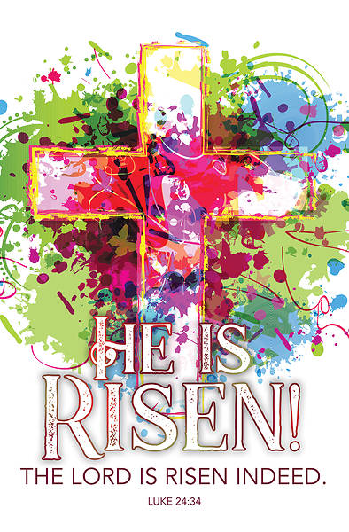 Picture of He Is Risen Easter Regular Size Bulletin
