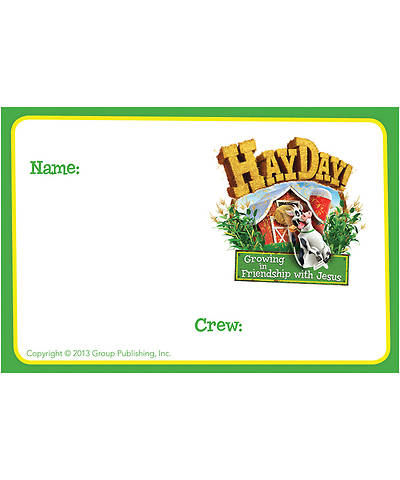Group VBS 2013 Weekend HayDay Name Badges (pkg10)