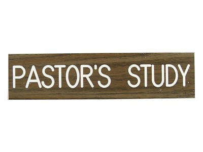 Picture of Pastor's Study Formica Sign