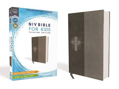 Picture of NIV Bible for Kids, Imitation Leather, Gray, Red Letter Edition, Comfort Print