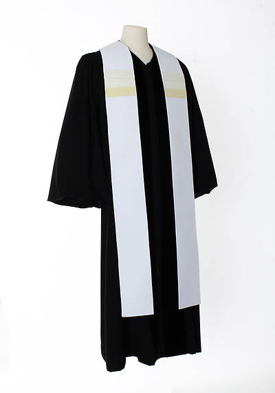 Picture of Triune Stripe Stole - White