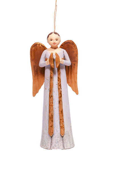 Picture of Resin Rosellie Angel Ornament With Cymbals