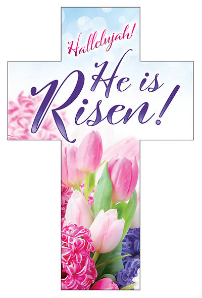 Picture of Hallelujah He is Risen Easter Cross Bookmark (Pkg of 25)