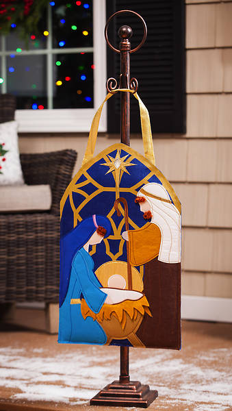 Nativity Felt Door Decor