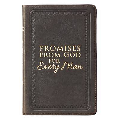 Picture of Promises from God for Every Man Brown Genuine Leather