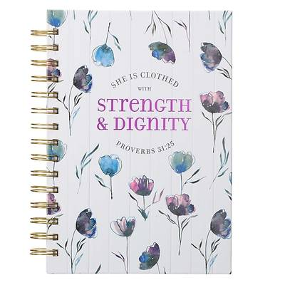 Picture of Large Wire Journal She Is Clothed with Strength Prov. 31