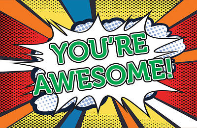 Youre Awesome Postcard-All Occasion (Pkg of 25)