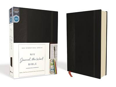NIV, Journal the Word Bible, Hardcover, Black, Red Letter Edition, Comfort Print