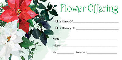 Picture of Flower Christmas Offering Envelope