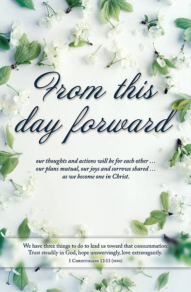 From This Day Forward Wedding Regular Size Bulletin