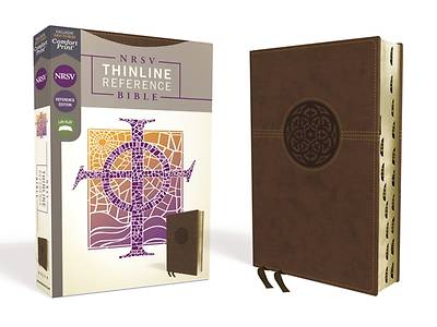 Picture of NRSV Thinline Reference Bible, Leathersoft, Brown, Indexed, Comfort Print
