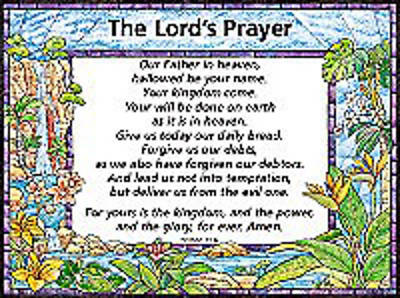 "The Lords Prayer (""Trespasses"") Wall Chart - Laminated"