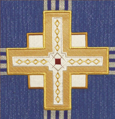 Picture of Abbott Hall Kingdom Cross N2149B Advent Lectern Scarf