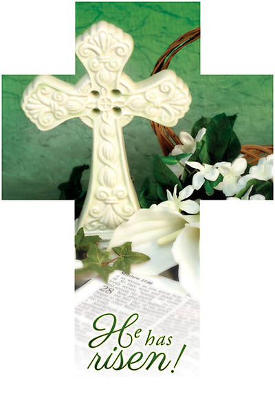 He Has Risen Easter Cross Bible Marker