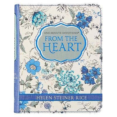 One-Min Devotions from the Heart Lux-Leather