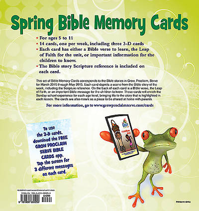 Picture of Grow, Proclaim, Serve! Bible Memory Cards Spring 2015