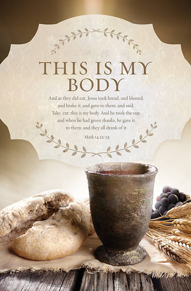 Picture of This My Body Communion Regular Size Bulletin