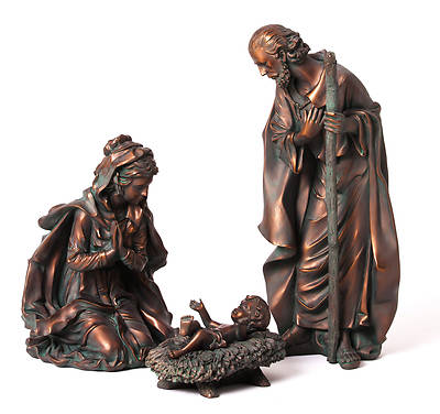 New Creative Garden Nativity Set 3Pc