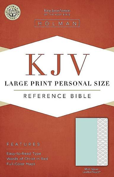 KJV Large Print Personal Size Reference Bible, Mint Green Leathertouch