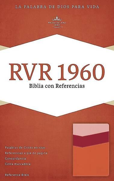 Picture of Rvr 1960 Biblia Con Referencias, Mango/Fresa/Durazno Claro Simil Piel